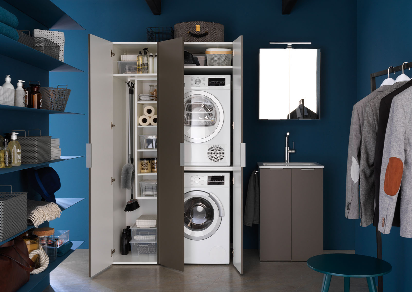 Angolo Lavanderia Stireria : Gli accessori irrinunciabili per un bagno lavanderia ideagroup