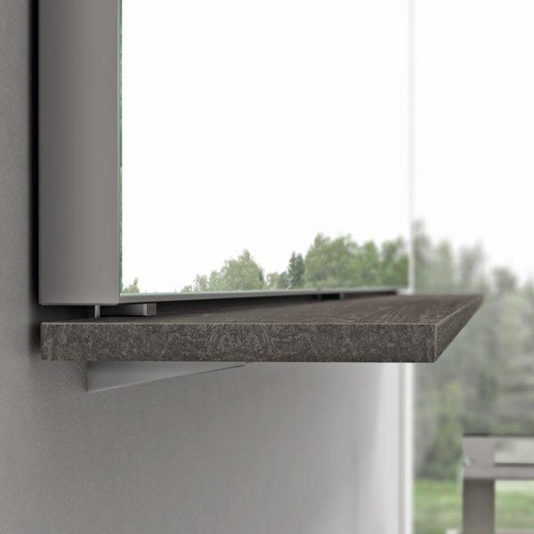 Aggancio mensola - specchiera senza fori a parete