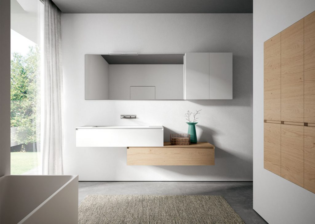 Cubik mobili da bagno moderni per arredo bagno di design ideagroup for Mobili da bagno design