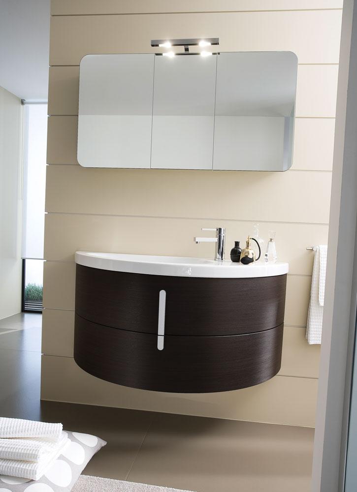 Moon mobili bagno con lavabo curvo in ceramica ideagroup - Mobile bagno moon ...