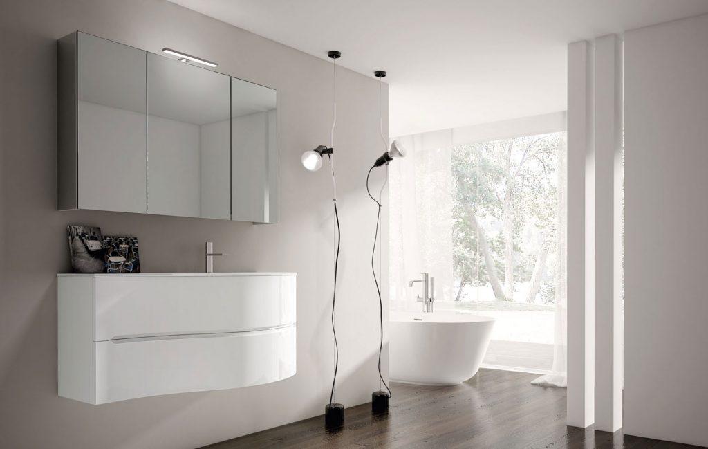 Smyle arredobagno per un bagno moderno e pratico ideagroup - Mobile bagno stondato ...