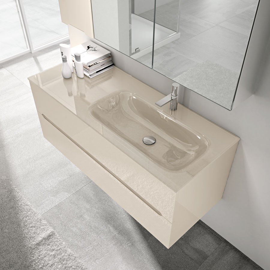 Mobile Bagno Lavabo Decentrato.Smyle Arredobagno Per Un Bagno Moderno E Pratico Ideagroup