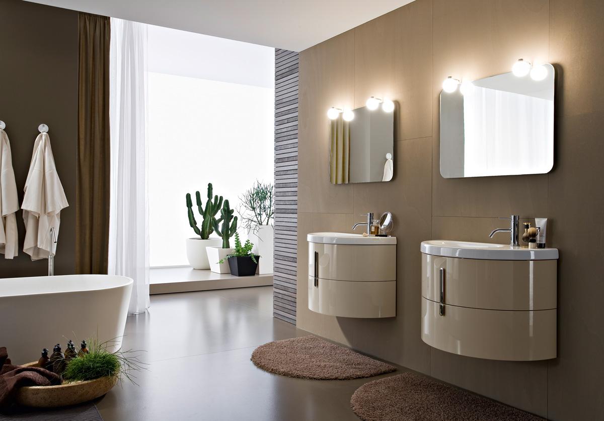 Mobili Bagno Moderni Doppio Lavabo : Mobili bagno con lavabo curvo in ...