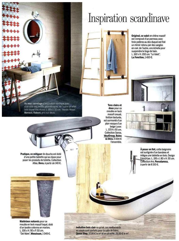 Mobili Bagno Marie Claire.Sense By Aqua In Marie Claire Maison Di Novembre 2015 Ideagroup