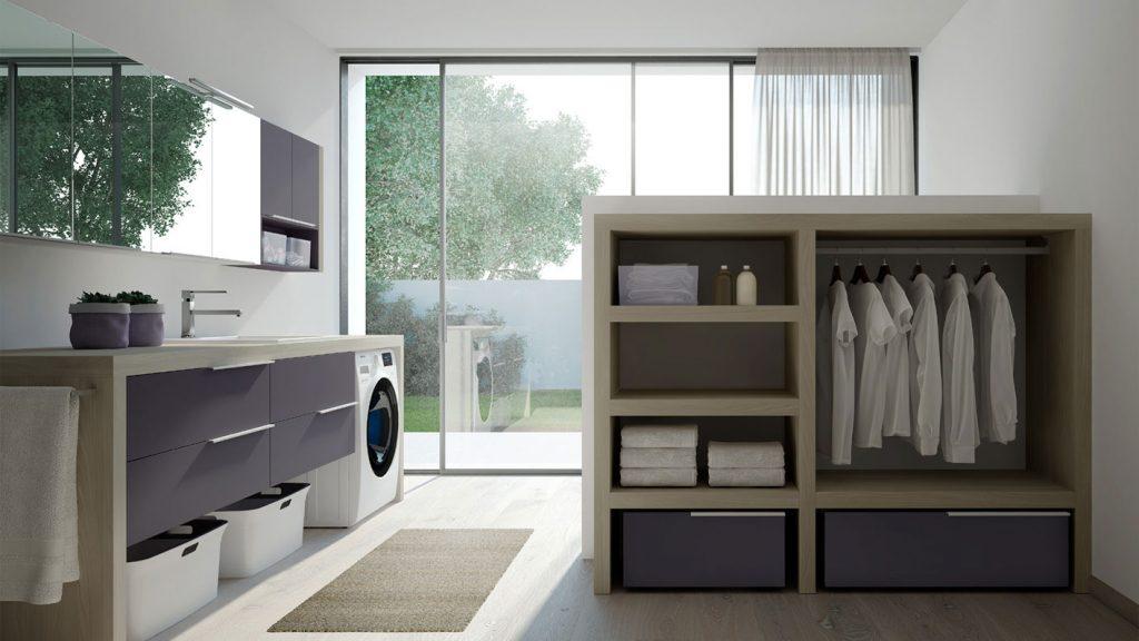 Armadio Lavanderia Esterno : Spazio time mobili per lavanderia soluzioni per bagno lavanderia