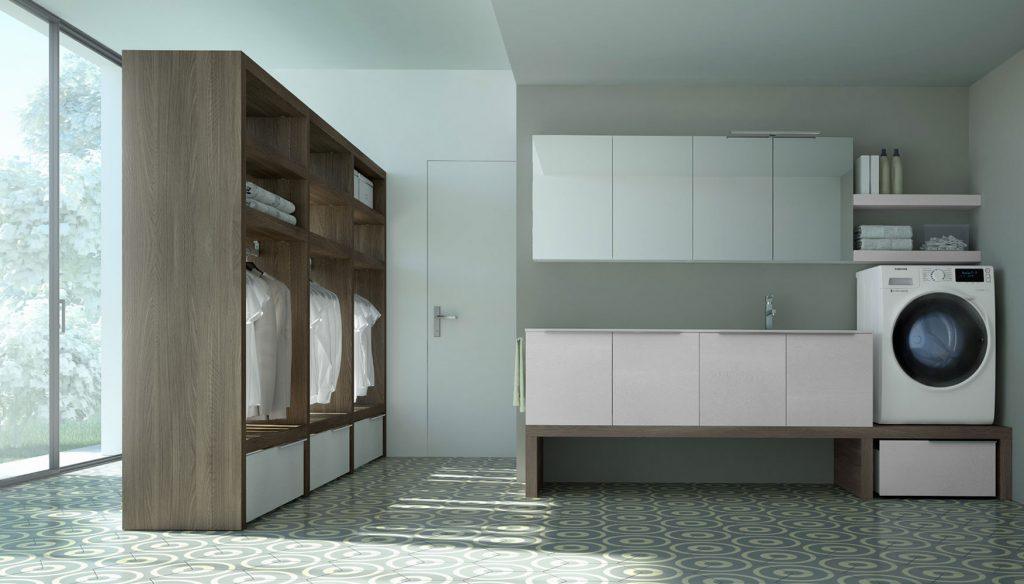 Armadio Lavanderia Esterno : Spazio time: mobili per lavanderia soluzioni per bagno lavanderia