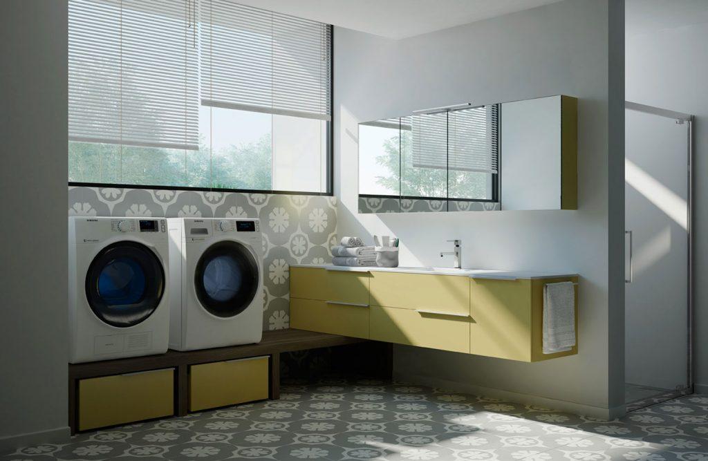 Spazio time mobili per lavanderia soluzioni per bagno - Serrandine per mobili ...