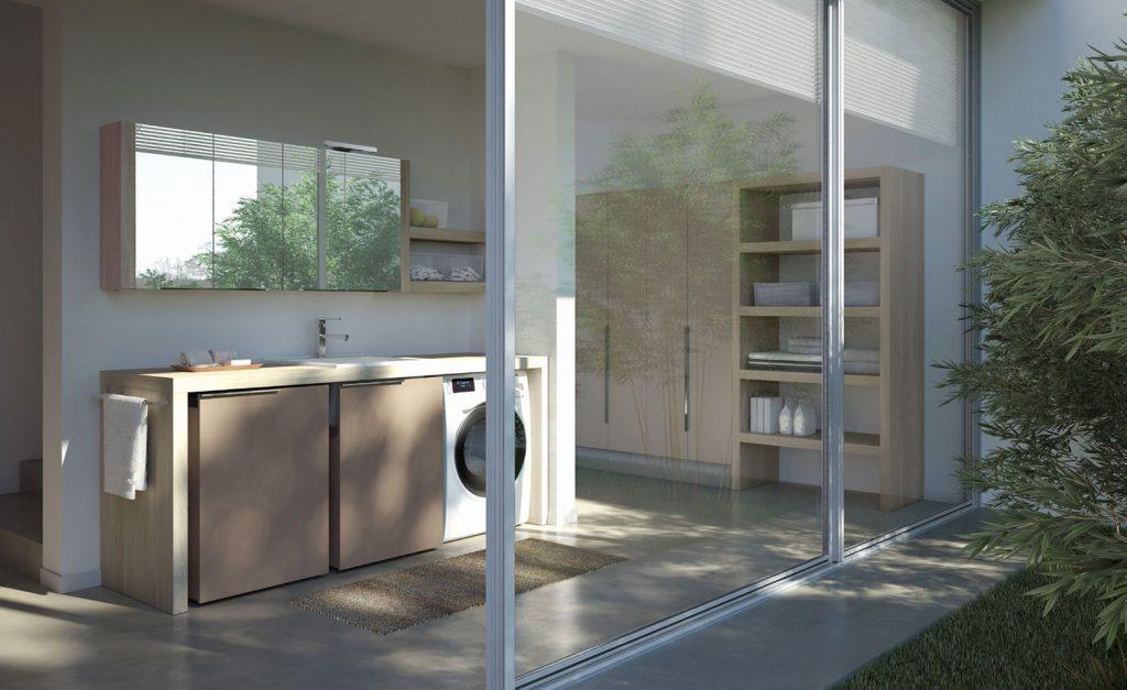 Spazio time mobili per lavanderia soluzioni per bagno lavanderia