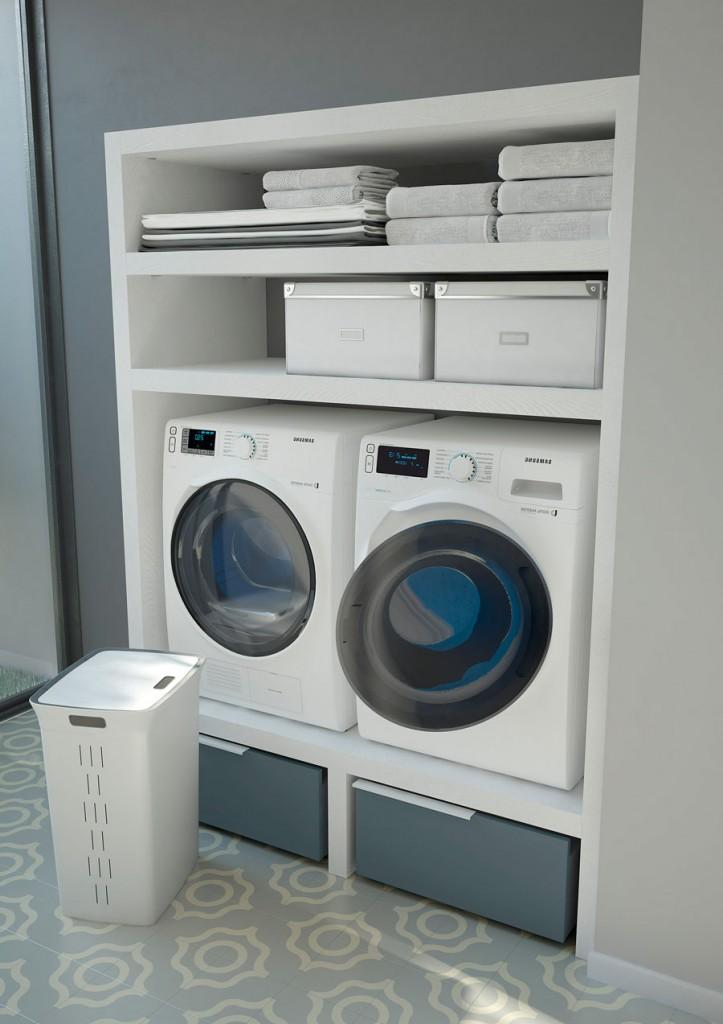 Spazio time mobili per lavanderia soluzioni per bagno - Arredo per lavanderia di casa ...