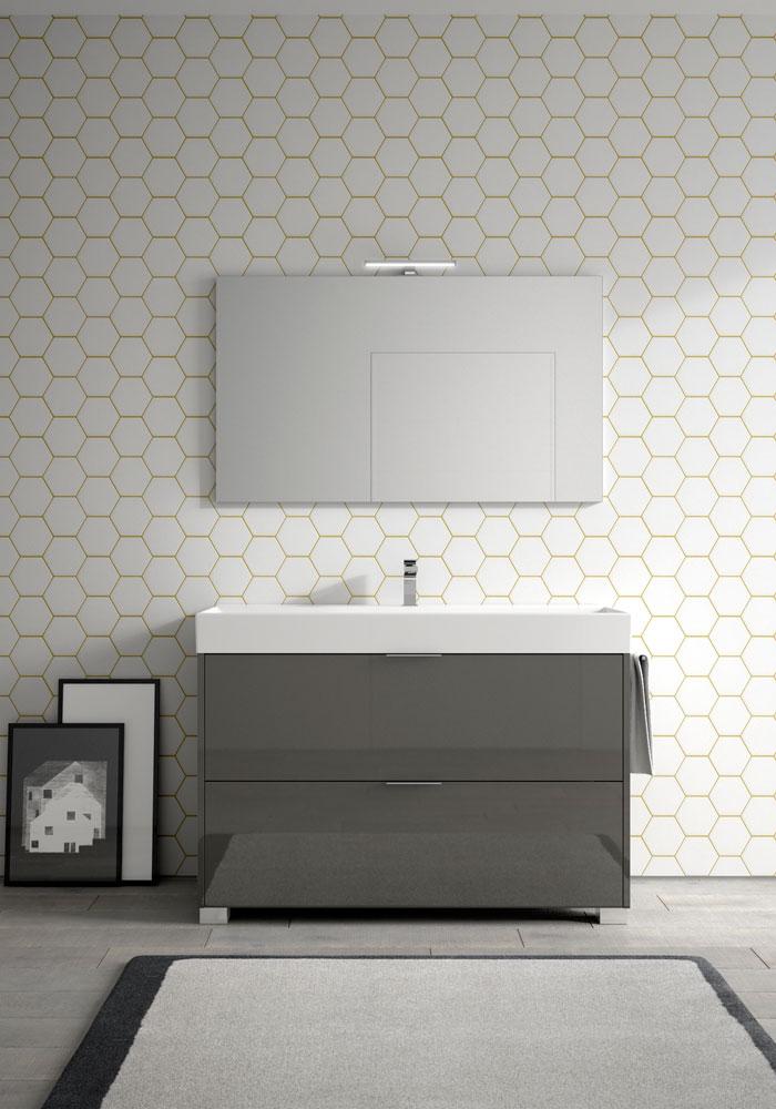 Basic mobili bagno minimal per un bagno funzionale for Mobile bagno minimal