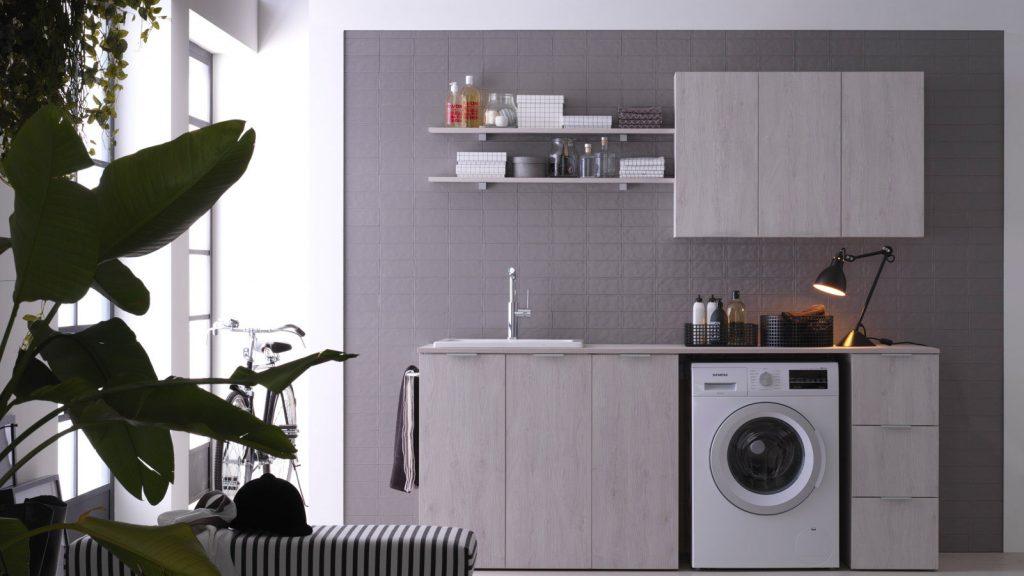 Kandy: arredo bagno lavanderia mobili per lavatrice e asciugatrice