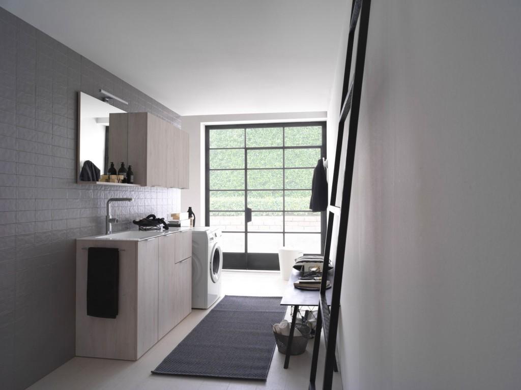 Kandy arredo bagno lavanderia mobili per lavatrice e for Arredo bagno lavatrice