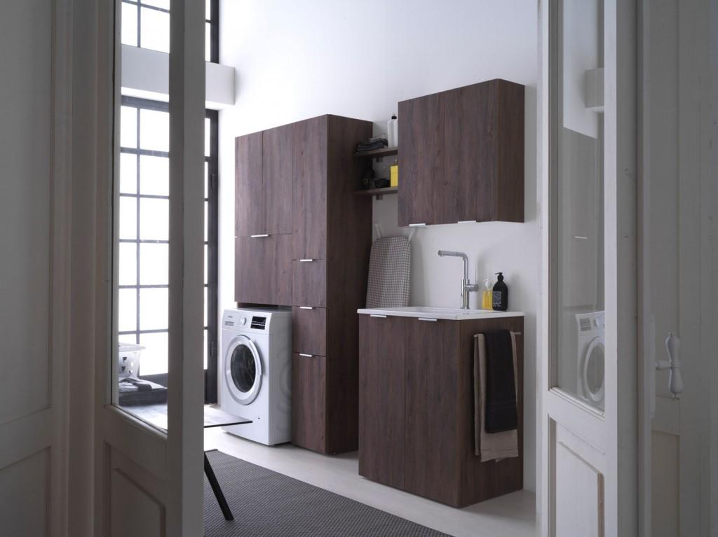 Kandy arredo bagno lavanderia mobili per lavatrice e asciugatrice ideagroup - Arredo lavanderia bagno ...