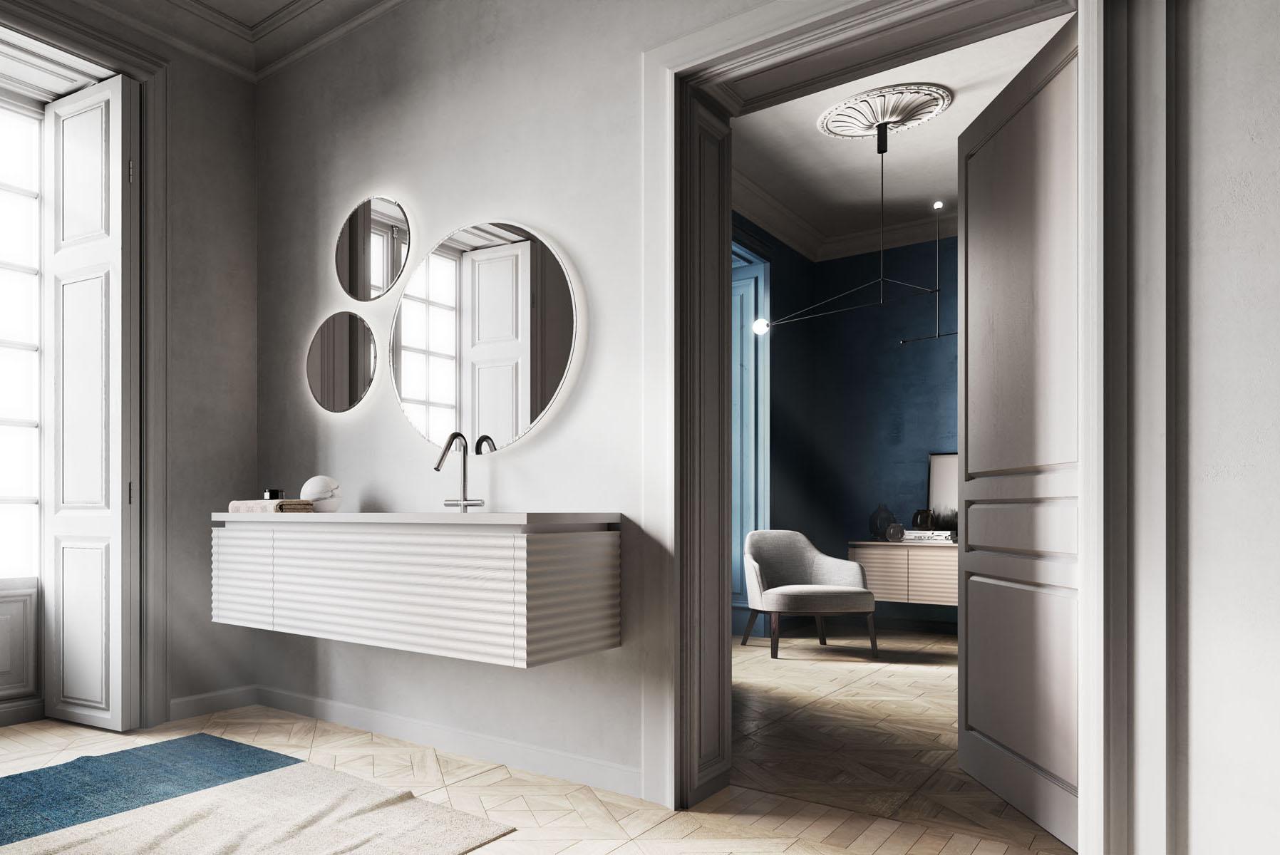 Dolcevita mobili bagno per un bagno moderno e sofisticato ideagroup - Arredo bagno elegante ...