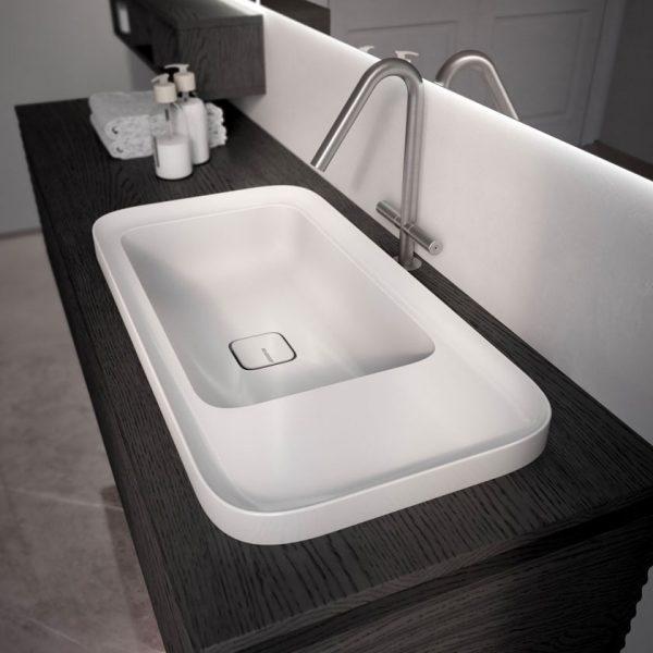 Nuovo lavabo lucido ed opaco ceramica Cameo