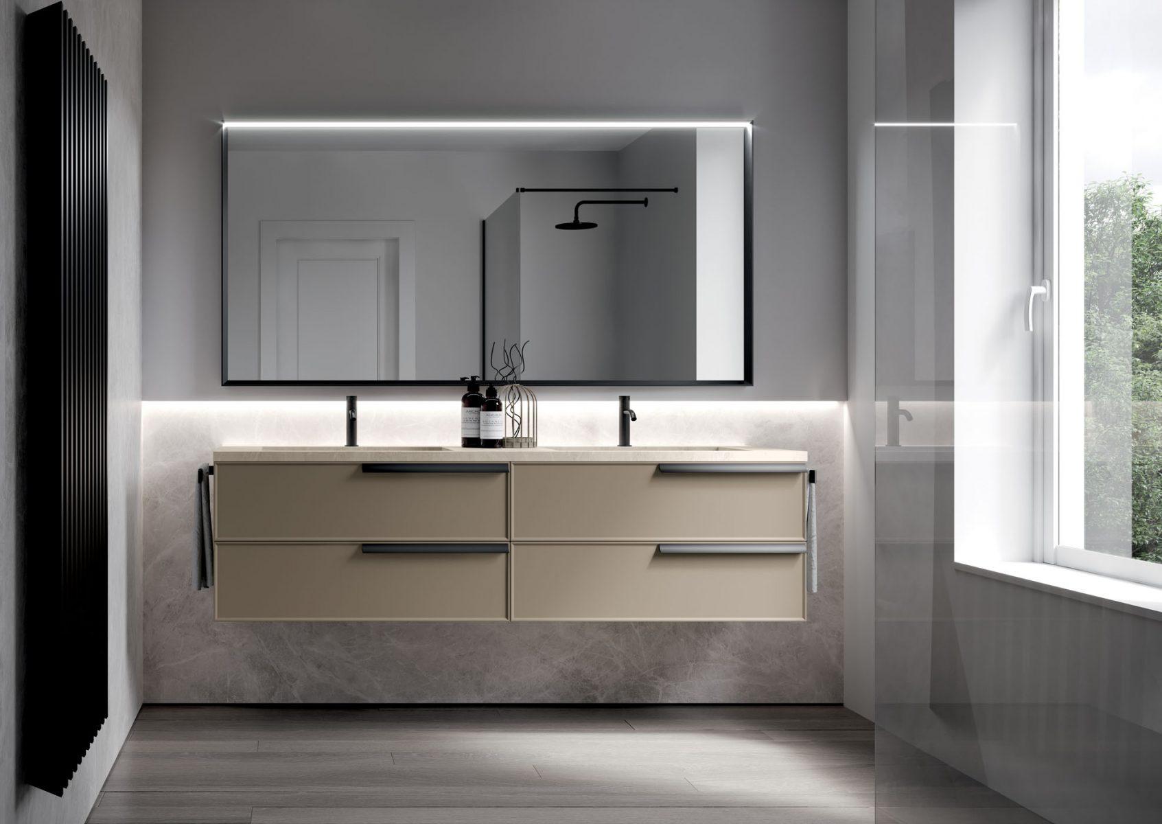 Bagno Rosa E Nero form: mobili bagno a terra o sospesi, lineari o curvi