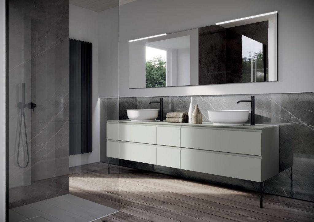 Form mobili bagno a terra o sospesi lineari o curvi for Idea casa mobili